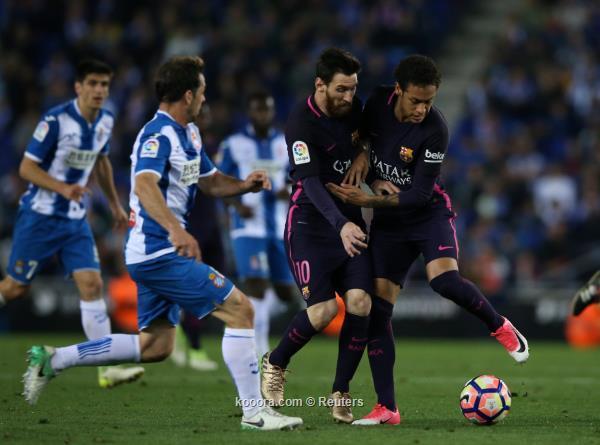 برشلونة يسحق اسبانيول في الشوط الثاني