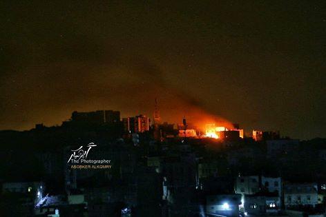 """تعز: يحدث الان..اشتباكات عنيفة والمليشيا تقصف الاحياء السكنية بصواريخ """"الكاتيوشا"""""""