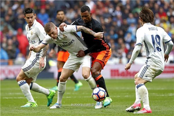 ريال مدريد يتجاوز فالنسيا بصعوبة