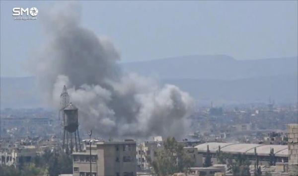 روسيا تنفذ عشرات الغارات على شرق دمشق