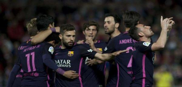 برشلونة يواصل ملاحقة الريال بفوز كبير على غرناطة