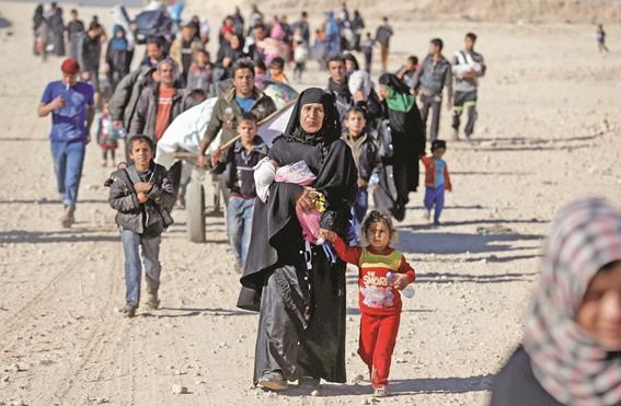 الامم المتحدة تعلن نزوح نصف مليون عراقي من الموصل