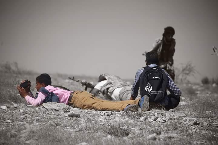"""تعز الحالمة تودع اليوم """"تقي الدين الحذيفي"""" أصغر وأشجع مصور صحفي (صور)"""