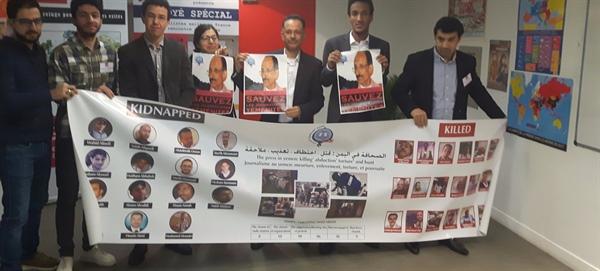 حملة تضامن دولية وعربية مع الصحفيين المختطفين في سجون الانقلابيين