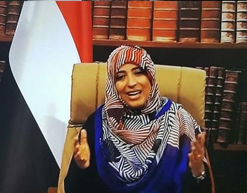 """الناشطة """"توكل كرمان"""" تعلق على احراق مقر حزب """"الإصلاح"""" بعدن؟"""