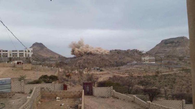 مليشيا الانقلاب تقتحم قرية الربيعيتن بالضالع وتفجر منزل شيخ قبلي (صورة)