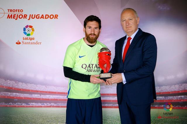 الاتحاد الاسباني يختار ميسي كأفضل لاعب في الليجا لشهر ابريل