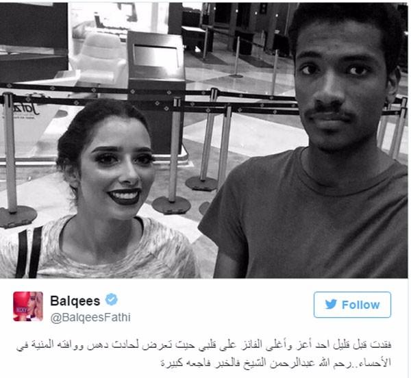 الفنانة اليمنية بلقيس فتحي تتبرع لأحد متابعيها ببناء مسجد بإسمه بعد وفاته