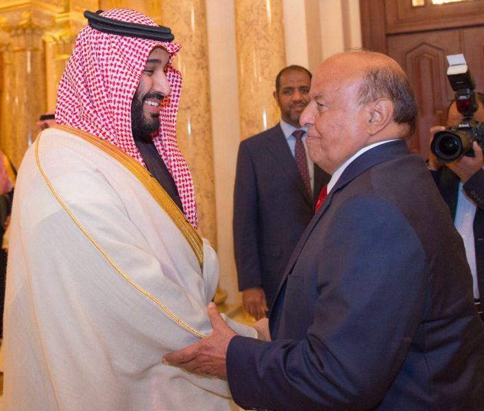الرئيس هادي يهنئ الامير محمد بن سلمان بمناسبة تعيينه ولياً للعهد السعودي