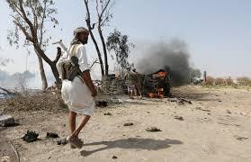 """إصابة """"5""""حوثيين جراء انفجار لغم ارضي في تعز."""