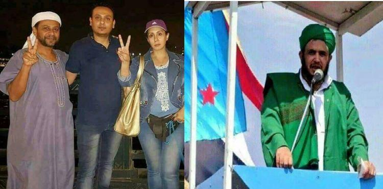 شاهد صورة مثيرة للجدل لخطيب ومفتي المجلس الانتقالي في الجنوب محمد رمزو