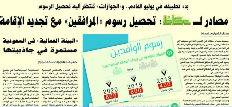 الجوازات السعودية تحدد موعد تحصيل رسوم المرافقين