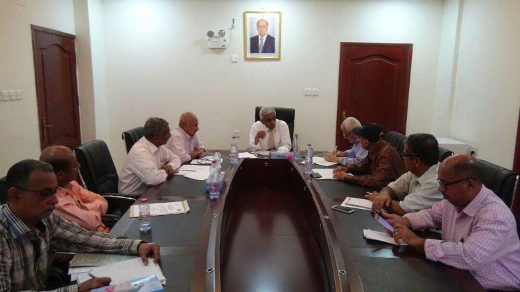 اجتماع يناقش  إنشاء المنطقة المشتركة للمياه في عدن