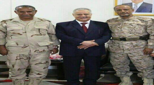 محافظ عدن يبحث مع قائدين عسكريين جهود الشرطة العسكرية في تثبيت دعائم الأمن والاستقرار في عدن
