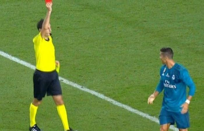 ريال مدريد يقرر الطعن في قرار طرد كريستيانو رونالدو
