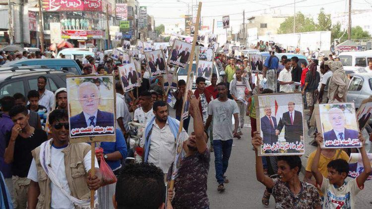 عاجل: تظاهرة حاشدة في عدن للمطالبة بعودة المفلحي