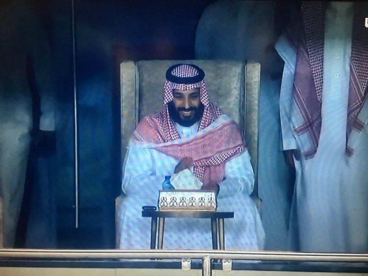 بحضور الأمير محمد بن سلمان السعودية تفوز على اليابان وتتأهل إلى كأس العالم 2018