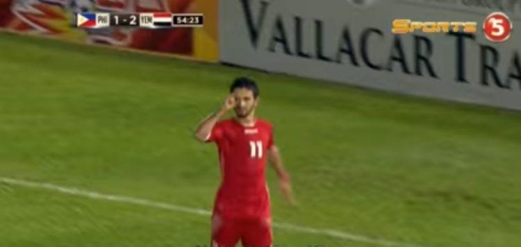 """المنتخب اليمني الأول يتعادل مع الفلبين، واللاعب المطري يتضامن مع الطفلة بثينة """"فيديو"""""""