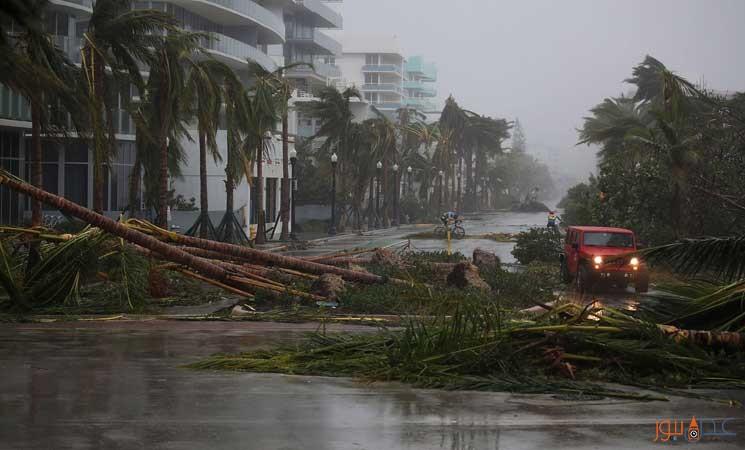 دونالد ترامب يعلن حالة الكارثة الطبيعية في فلوريدا بعد وصول اعصار ارما