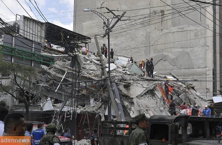 زلزال قوي يقع قرب العاصمة المكسيكية ومقتل العشرات