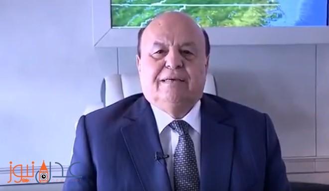 فيديو.. الرئيس هادي من الطائرة يوجه رسالة هامة لأبناء الشعب اليمني