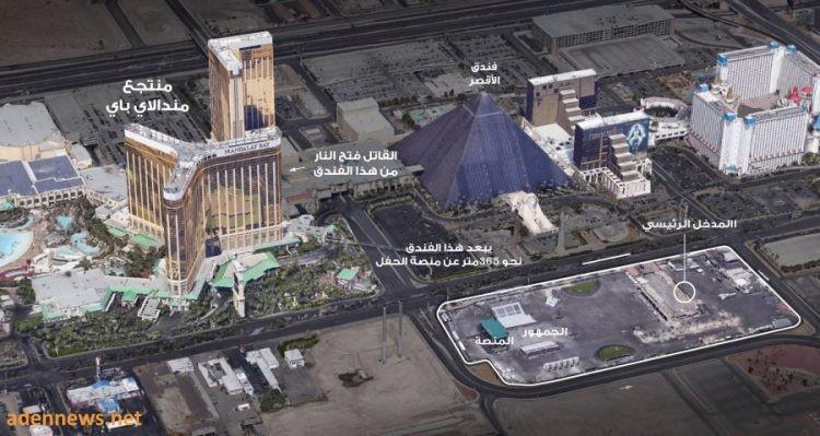 صورة جوية توضح ماذا حدث في واقعة إطلاق النار في لاس فيغاس؟