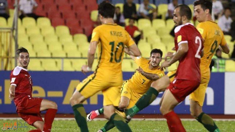 سوريا تتعادل مع استراليا في ذهاب ملحق اسيا المؤهل لكأس العالم