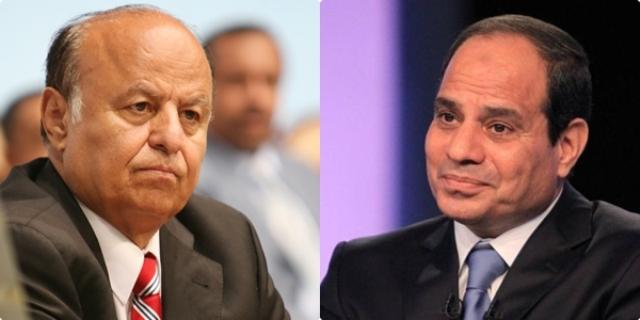 الرئيس هادي يهنئ المصري عبدالفتاح السيسي بمناسبة ذكرى السادس من اكتوبر