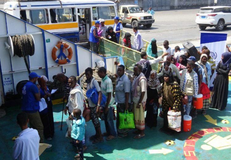 منظمة الهجرة الدولية: اعدنا 134 لاجئ صومالي الى بلادهم عبر ميناء عدن
