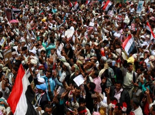 """تظاهرات في محافظة تعز رفضا لتشكيل """"حزام امني"""".. تفاصيل"""