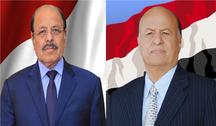 الرئيس هادي يتصل بنائبه علي محسن (تفاصيل المكالمة)