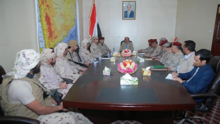 تعيين قيادة جديدة لقوات التحالف العربي في مارب والاحمر يودع القيادة السابقة