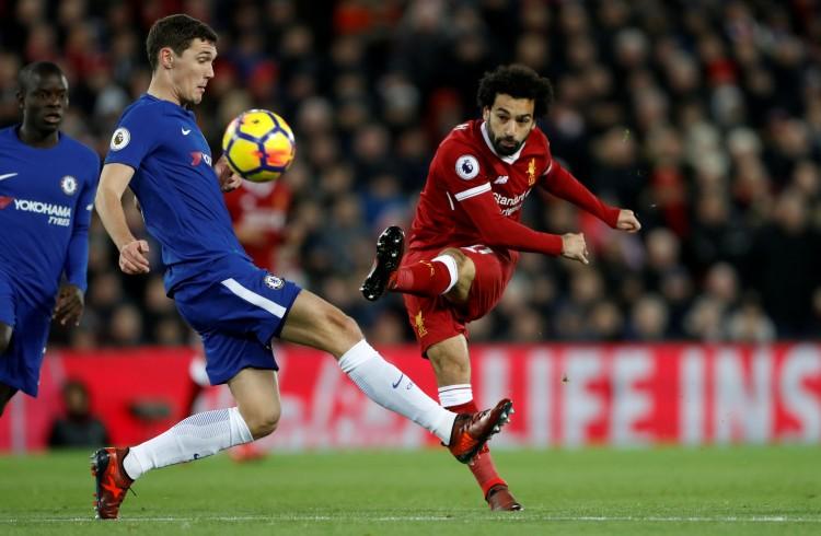 قمة الدوري الانجليزي بين ليفربول وتشيلسي تنتهي بالتعادل، ومحمد صلاح يضع بصمته