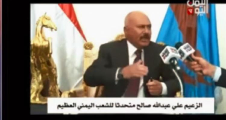 في تصريح جديد للرئيس السابق صالح: زمن المليشيات إنتهى ولا تعايش بعد اليوم بين الدولة والدويلة