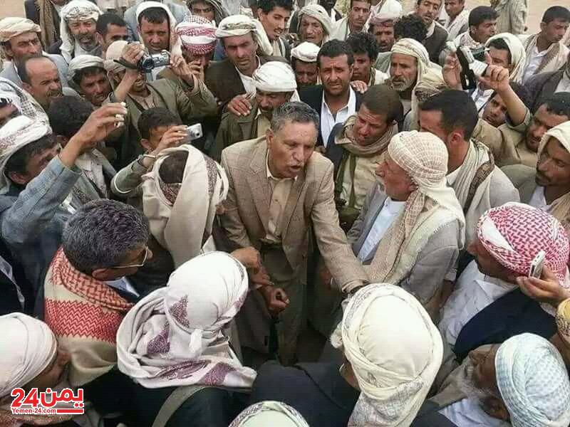 جماعة الحوثي تعلن القاء القبض على واحد من اكبر المشائخ الموالين لصالح في محافظة عمران