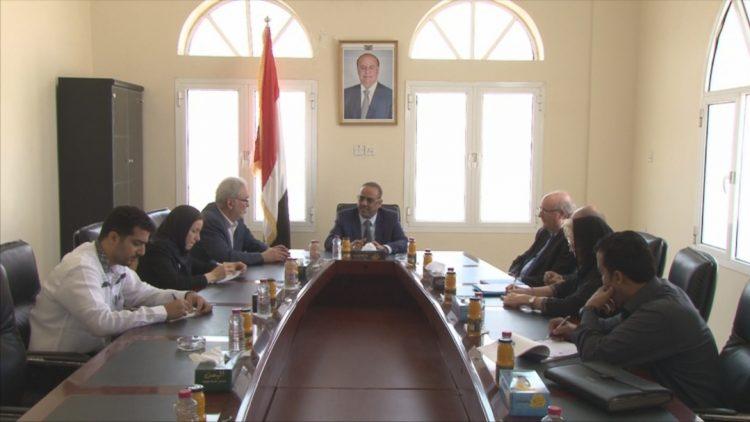 تفاصيل لقاء وزير الداخلية اليمني مع فريق خبراء دوليين