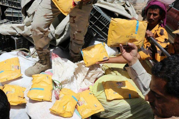 أجهزة الأمن في مأرب تضبط كمية كبيرة من مادة الحشيش المخدر كانت في طريقها إلى صنعاء