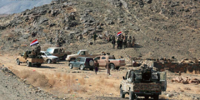 الجيش الوطني يتقدم في البيضاء ويحرر مواقع جديدة وطيران التحالف يستهدف مواقع المليشيات