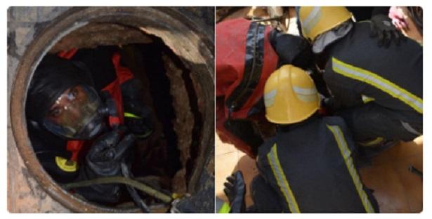 السعودية.. فرق الانقاذ تنتشل جثة عاملين من داخل خزان صرف صحي بجدة