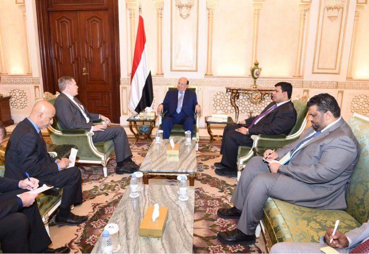 هذا ما تناوله لقاء الرئيس هادي بالسفير الامريكي لدى اليمن اليوم