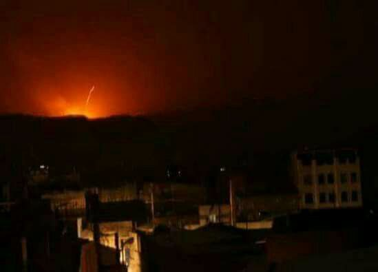 """أنباء عن صيد """"ثمين"""".. التحالف العربي يستهدف مبنى الداخلية في صنعاء بعدة غارات"""