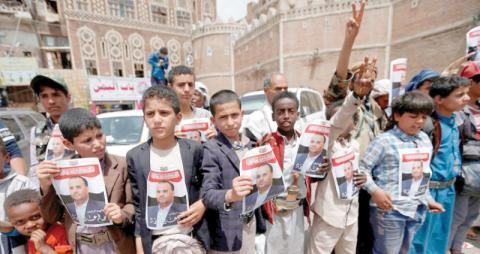 مليشيا الحوثي ترغم الطلبة والموظفين تشييع الصماد لإظهار شعبية مزيفة