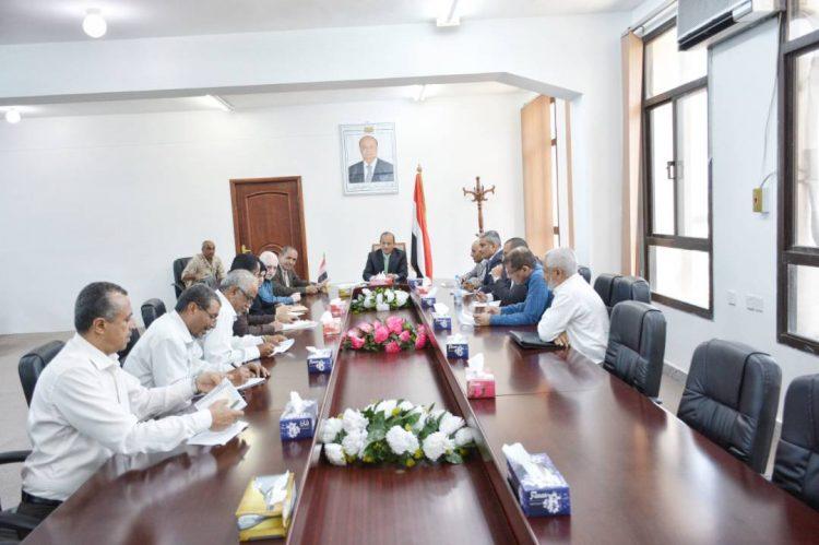 برئاسة محافظ تعز .. اشرافية دعم القطاعات الخدمية تقر عدد من مناقصات المشاريع في المحافظة