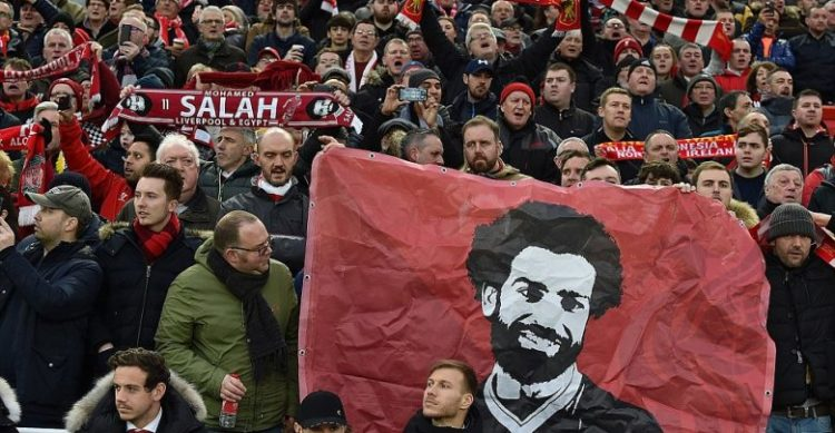 جماهير ليفربول تغني لمحمد صلاح قبل مواجهة روما