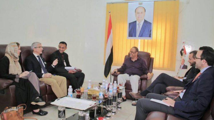 وزير الداخلية الميسري يلتقي بعثة اللجنة الدولية للصليب الاحمر في عدن