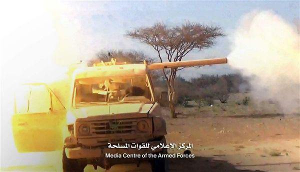 قوات الجيش الوطني تشن هجوما عنيفا على مواقع مليشيا الحوثي في مديرية برط العنان بالجوف