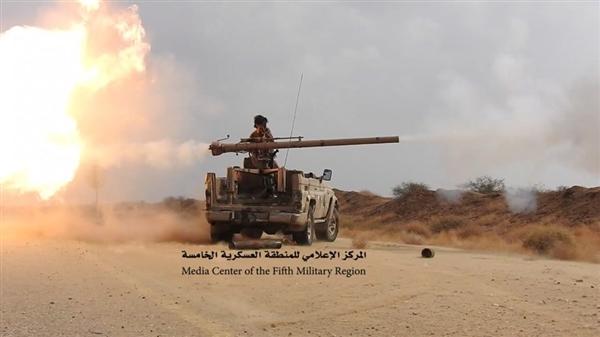 """بعد تقدمها مسافة 12 كيلو متر في حرض.. قوات الجيش الوطني على """"مشارف المزرق"""""""