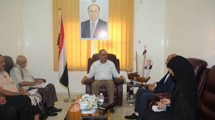 """وزير الداخلية """"الميسري"""" يلتقي رئيس بعثة منظمة نداء جنيف في اليمن"""