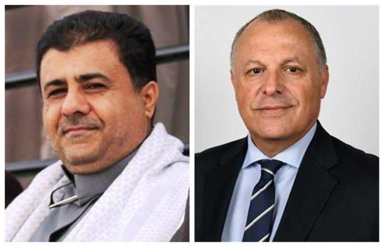 رئيس الاتحاد اليمني لكرة القدم يتلقى تهنئة عيد الاضحى من نظيره المصري