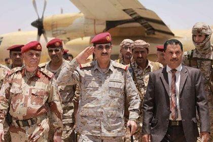 رئيس هيئة الأركان يصل حضرموت ويتفقد وحدات المنطقة العسكرية الأولى في سيئون